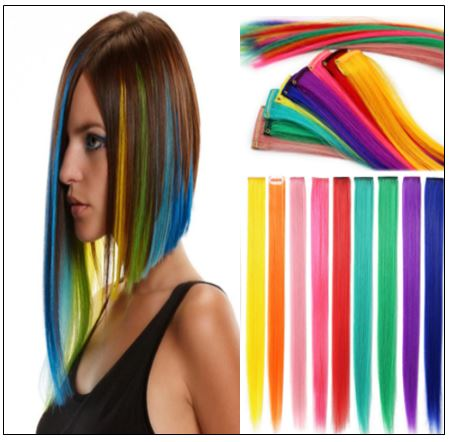 Clip In Colored Hair Extensions img