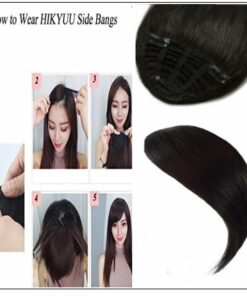 Clip In Side Bangs Human Hair Extensions 2-min