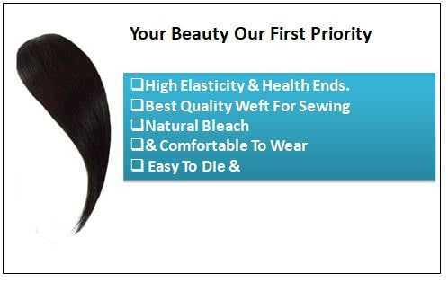 Clip In Side Bangs Human Hair Extensions-min