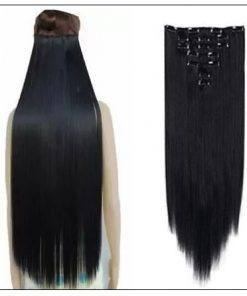 Clips in hair extensions for Natural black hair (1)