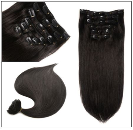 Clips in hair extensions for Natural black hair (4)