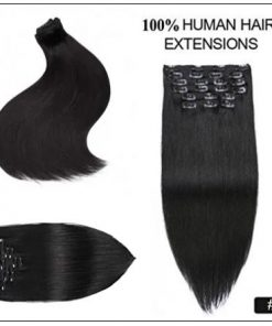 Clips in hair extensions for Natural black hair (5)