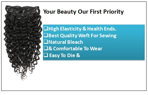 Curly Clip in Human Hair Extensions (3)
