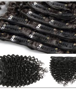 Curly Clip in Human Hair Extensions (4)