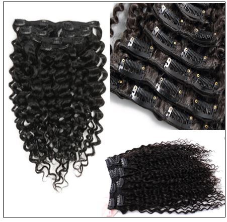 Curly Clip in Human Hair Extensions (5)