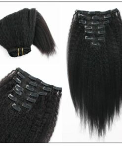 Kinky Straight Clip in Hair Extensions (4)