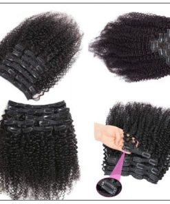 Kinky clip in hair extensions (1)