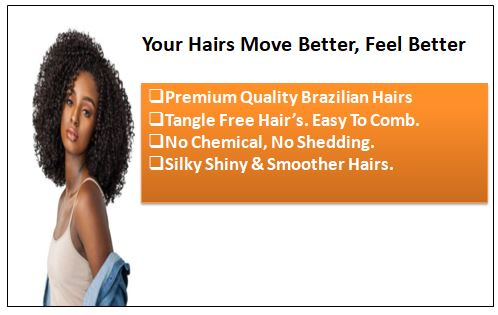 Kinky curly clip in hair extension 1