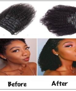 Kinky curly clip in hair extension 4
