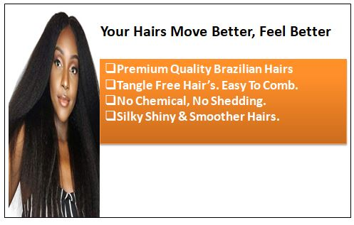 Kinky straight clip in hair extensions 1