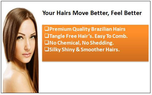 Light Brown Clip in Human Hair Extensions 1