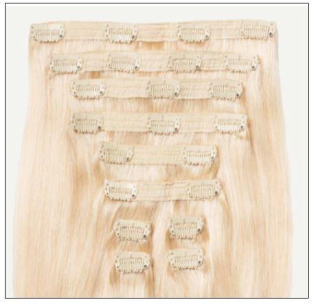 Natural Ash Blonde Hair Extensions 4-min