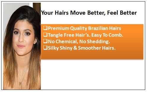 Ombre Human Hair Extensions Clip In 1-min