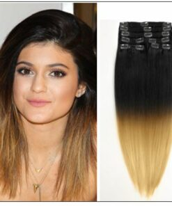 Ombre Human Hair Extensions Clip In img-min