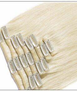 Platinum Blonde Clip in Hair Extensions 2-min