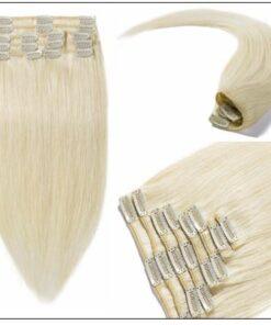 Platinum Blonde Clip in Hair Extensions 3-min
