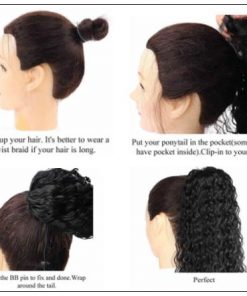 Curly Ponytail Black Girl Hair Extensions (5)