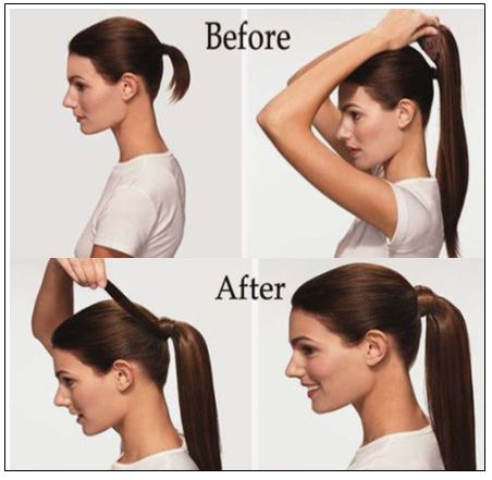 Short Clip in Ponytail Hair Extensions (4)