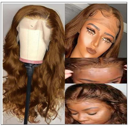 13×4 Brown Body Wave Wig Hair Extensions 2