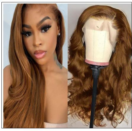 13×4 Brown Body Wave Wig Hair Extensions img