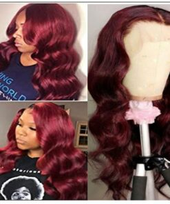 13×4 Burgundy Body Wave Wig Hair Extensions 3