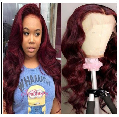 13×4 Burgundy Body Wave Wig Hair Extensions img