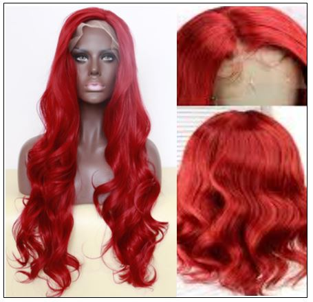 13×4 Red Body Wave Wig Hair Extensions 2