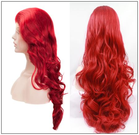 13×4 Red Body Wave Wig Hair Extensions 3