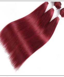 Burgundy Frontal Sew in Hair Extensions (6)