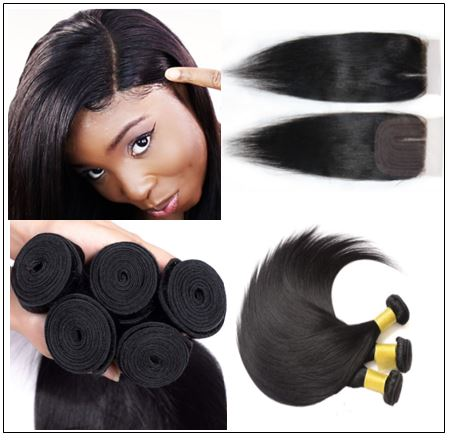 Closure Sew in Side Part Hair Extensions 2