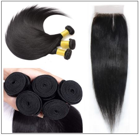 Closure Sew in Side Part Hair Extensions 3