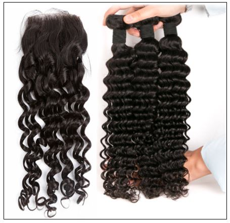 Deep Wave Side Part Sew in Hair Extensions (1)