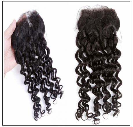Deep Wave Side Part Sew in Hair Extensions (3)