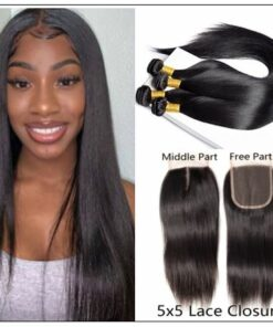 Middle Part Sew in Straight Hair Extensions (1)