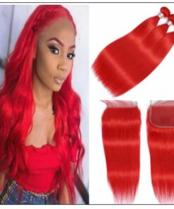 Red Hair Sew in with Closure (4)
