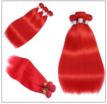 Red Sew in Hair Extensions (3)