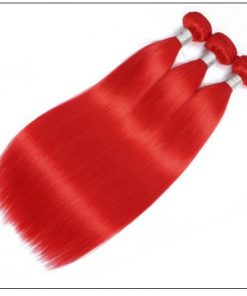 Red Sew in Hair Extensions (4)