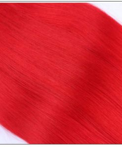 Red Sew in Hair Extensions (5)