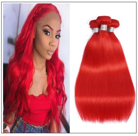 Red Sew in Hair Extensions (6)