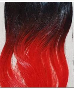 Red Slicked Back Ponytail Hair Extensions 3