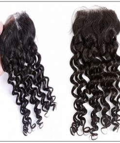 Side Part Deep Wave Sew in with Closure 2