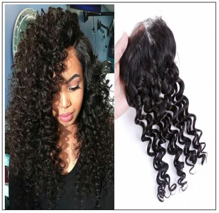 Side Part Deep Wave Sew in with Closure img