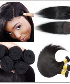 Side Part Straight Sew in Hair Extensions (2)
