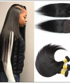 Side Part Straight Sew in Hair Extensions