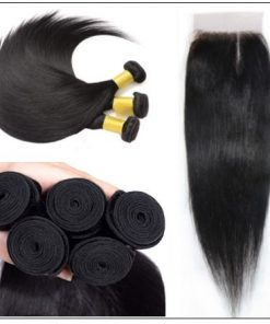 Side Part Straight Sew in Hair Extensions (3)